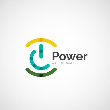 Illustration pour Power button logo design, minimalistic line art - image libre de droit