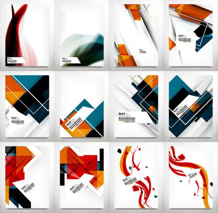 Illustration pour Flyers, Brochure Design Template Set - image libre de droit