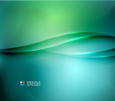 Illustration pour Green and blue blurred design template - image libre de droit