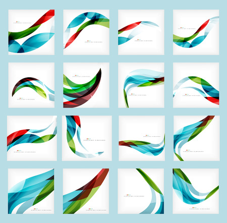 Foto de Set of business corporate abstract backgrounds, wave brochure or flyer design templates - Imagen libre de derechos