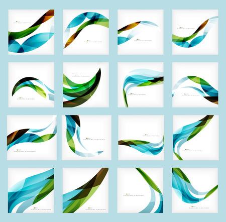 Ilustración de Set of business corporate abstract backgrounds - Imagen libre de derechos