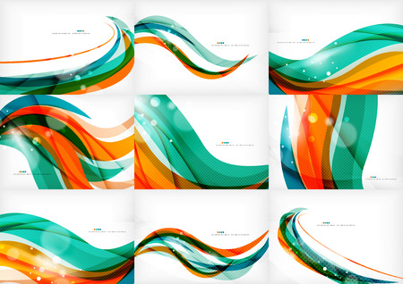 Photo pour Green and orange lines modern abstract background - image libre de droit