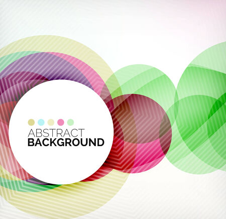 Illustration for Colorful circles modern abstract composition - Royalty Free Image