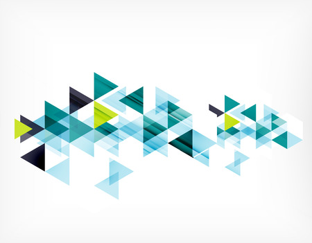 Foto de Triangle pattern composition, abstract background with copyspace. Vector illustration - Imagen libre de derechos