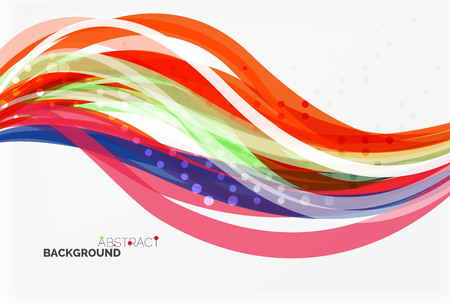 Illustration pour Colorful stripes on light background - image libre de droit
