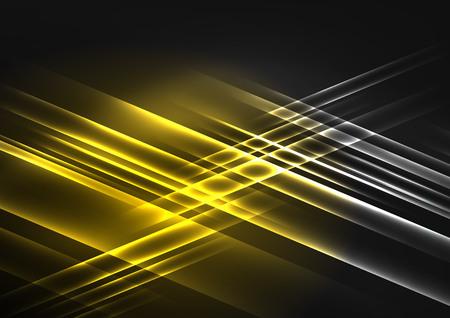 Ilustración de Glowing futuristic lines - Imagen libre de derechos