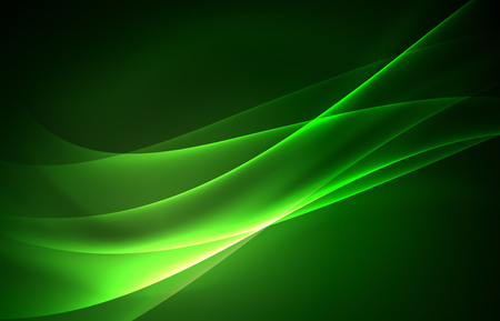 Illustration pour Vector polar lights concept, glowig shapes in the dark, abstract background - image libre de droit