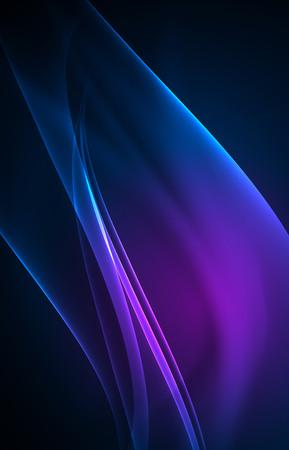 Illustration pour Vector polar lights concept background - image libre de droit
