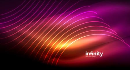 Illustration pour Abstract wave on dark background - image libre de droit