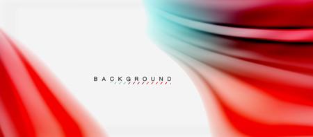 Photo pour Blurred fluid colors background, abstract waves lines, vector illustration - image libre de droit