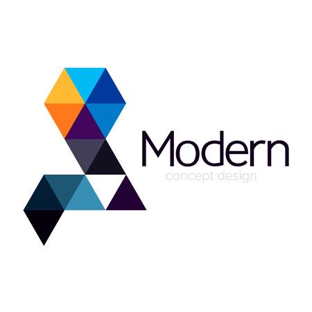 Ilustración de Triangle shape design abstract business  icon design. Company  branding emblem idea - Imagen libre de derechos
