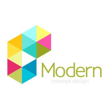 Ilustración de Triangle shape design abstract business  icon design. Company  branding emblem idea. Vector illustration - Imagen libre de derechos