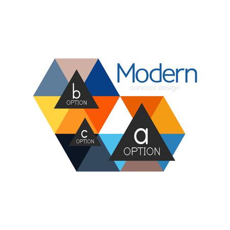 Ilustración de Triangle shape design abstract business logo icon design. Company logotype branding emblem idea - Imagen libre de derechos