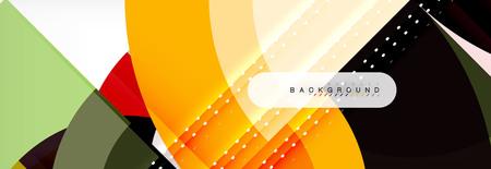 Illustration pour Vector circle abstract background, geometric design - image libre de droit