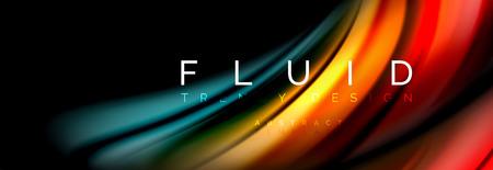 Illustration pour Fluid color motion concept, vector illustration - image libre de droit