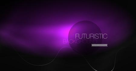 Illustration pour Neon lines wave background. Vector abstract composition - image libre de droit