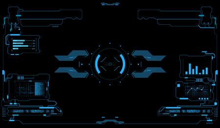 Illustration pour Sci-Fi UI Pack. Futuristic user interface. HUD interface. Touch panel. Game interface - image libre de droit