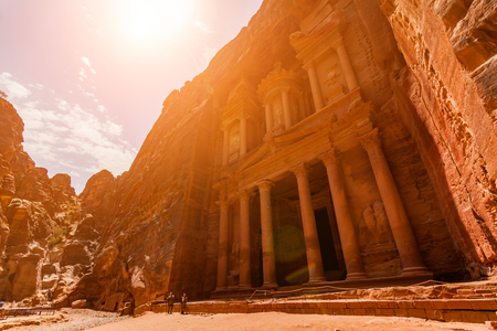 Photo for Al Khazneh - the treasury, ancient city of Petra, Jordan. - Royalty Free Image
