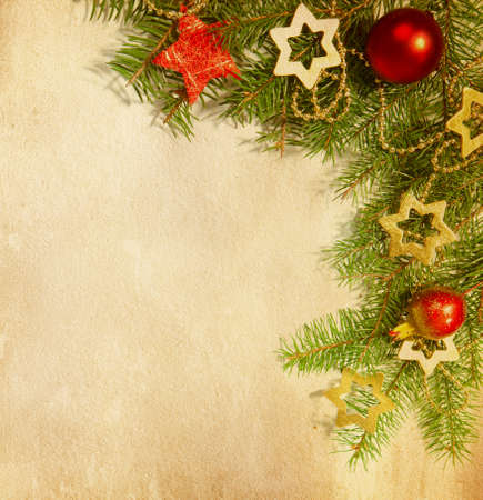 Photo for Christmas   border   old paper - Royalty Free Image