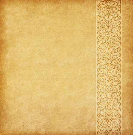 Photo for Beige background. Old paper with oriental ornament. - Royalty Free Image