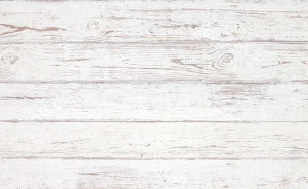 Photo pour Grunge background. White wooden texture.  Peeling paint on an old wooden floor. - image libre de droit