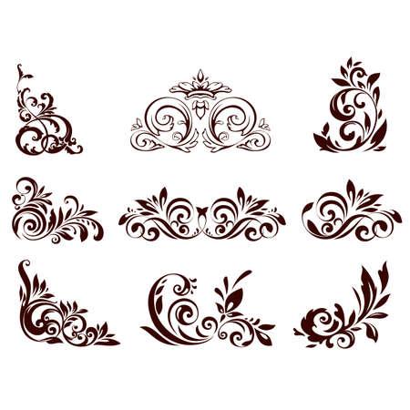 Illustration pour Set of floral element for design illustration. - image libre de droit