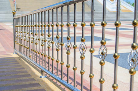Photo pour fence made of stainless steel - image libre de droit