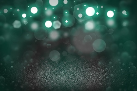Photo for teal, sea-green cute bright abstract background glitter lights defocused bokeh - festive mockup texture with blank space for your content - Royalty Free Image