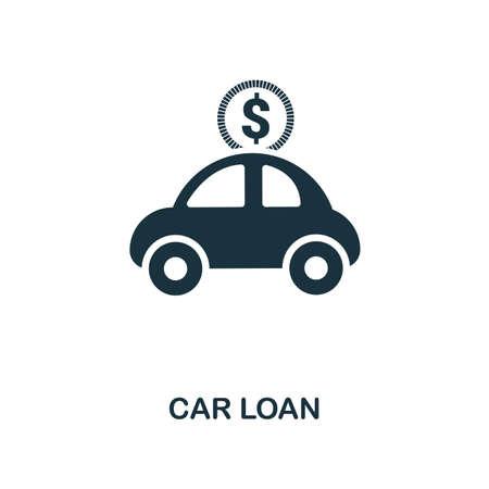 Ilustración de Car Loan creative icon. Simple element illustration. Car Loan concept symbol design from personal finance collection. Can be used for mobile and web design, apps, software, print. - Imagen libre de derechos