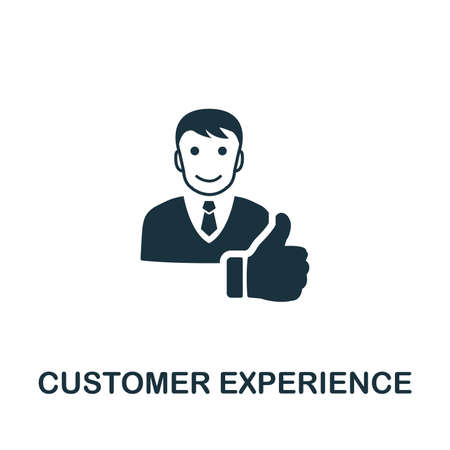 Foto de Customer Experience icon illustration. Creative sign from icons collection. Filled flat Customer Experience icon for computer and mobile. Symbol, graphics. - Imagen libre de derechos