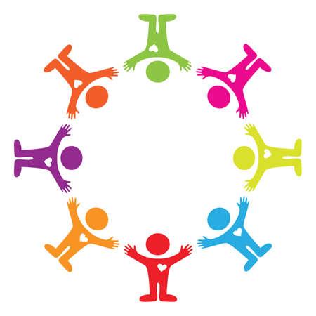 Illustration pour sign - unity people - image libre de droit