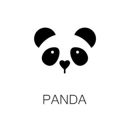Photo pour simple sign a panda - design template - image libre de droit