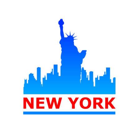 Illustration pour New York city skyline silhouette. Template for design. - image libre de droit