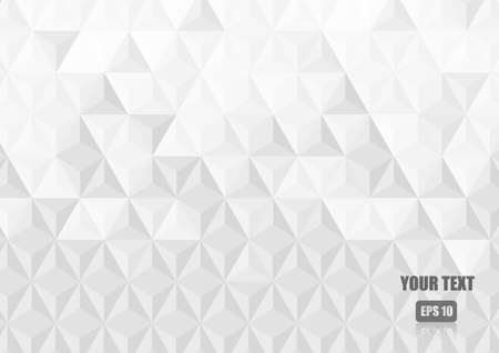 Illustration pour Vector : White abstract triangle texture background - image libre de droit
