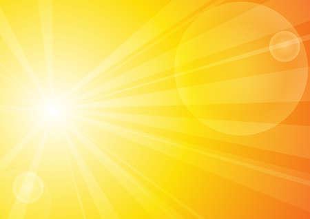 Illustration pour Vector : Abstract yellow stripe sun shine - image libre de droit