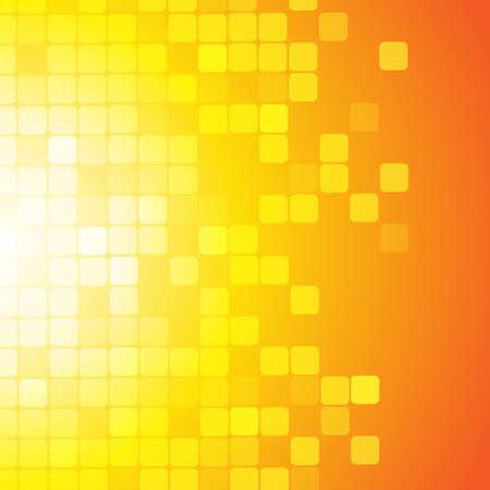 Illustration pour Vector : Abstract square on yellow orange background - image libre de droit