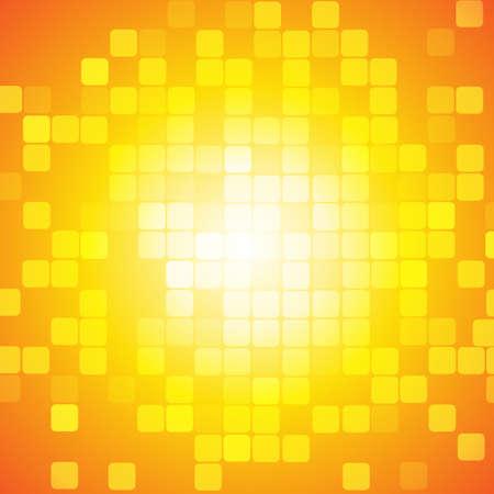 Ilustración de Vector : Abstract square on yellow orange background - Imagen libre de derechos