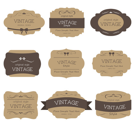 Photo pour Set of label style vintage - image libre de droit