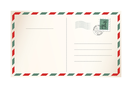 Illustration pour Letter for Santa Claus - template postcard - image libre de droit