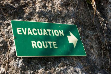 Foto de evacuation route sign photo - Imagen libre de derechos