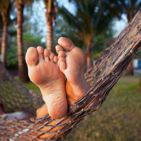 Photo for woman in hammock - Royalty Free Image