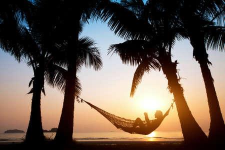 Photo pour relax on the beach - image libre de droit