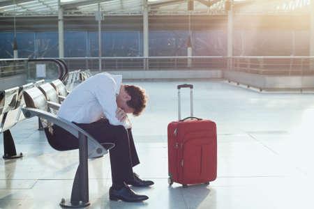 Photo pour delayed flight - image libre de droit