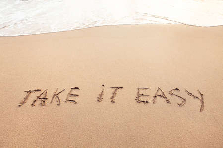 Photo pour Take it easy, positive thinking lifestyle, carefree or relax concept - image libre de droit