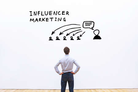 Photo pour influencer marketing concept in business - image libre de droit