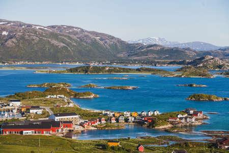 Foto de beautiful summer panoramic view of Sommaroy island in Norway - Imagen libre de derechos
