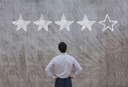 Foto de reputation management concept, feedback rating - Imagen libre de derechos
