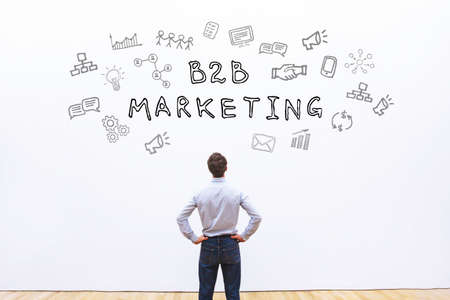 Photo pour b2b marketing concept - image libre de droit