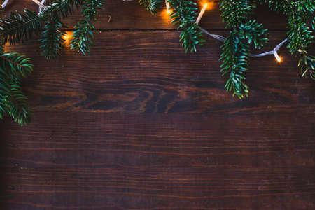 Foto de christmas wooden background with copy space - Imagen libre de derechos