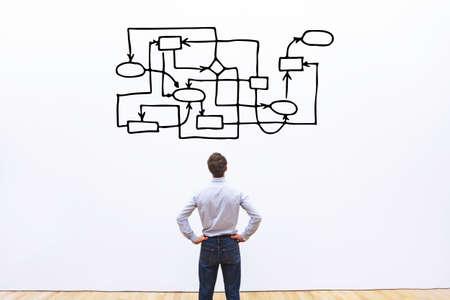 Photo pour bad management concept, disorder and messy organization - image libre de droit